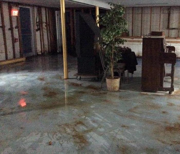 Commercial Water Damage in Belmar, NJ Before